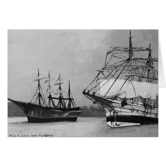 Segelschiffe Mitteilungskarte