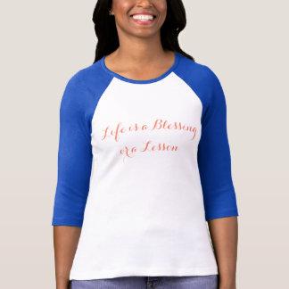 Segen + Lektionen, 3/4 die Hülsen-T - Shirt der