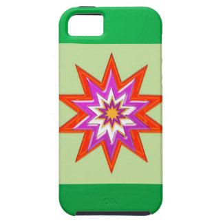 SEGEN-MAGIE Hintergrund des STERNES grüne Billig iPhone 5 Etui