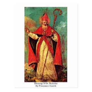 Segen von Sankt Nikolaus durch Francesco Guardi Postkarte