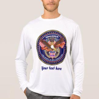 Sehen alles die Art-Licht der patriotischen Männer T-Shirt