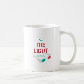 Sehen Sie das Licht Kaffeetasse