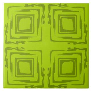 Sehen Sie die Waldabstrakte Kunst-dekorative Große Quadratische Fliese