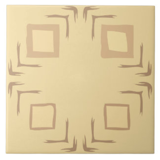Sehen Sie die Waldabstrakte Kunst-Fliese in Große Quadratische Fliese