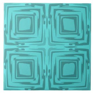 Sehen Sie die Waldabstrakte Kunst-Türkis-Fliese Große Quadratische Fliese