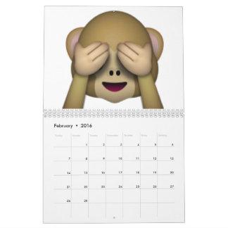 Sehen Sie keinen schlechten Affen - Emoji Kalender