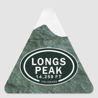 Sehnt sich Spitze 14.259 felsiger Berg FT Colorado Dreieckiger Aufkleber