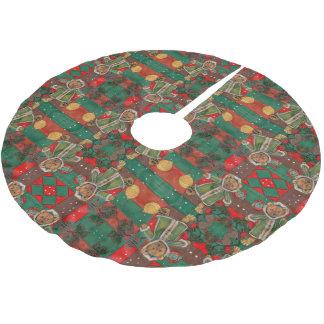 Sehr Beary WeihnachtsTeddybär Polyester Weihnachtsbaumdecke