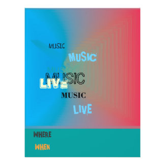 Sehr bunt > Musik-Flyer