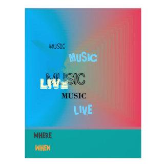 Sehr bunt > Musik-Flyer 21,6 X 27,9 Cm Flyer