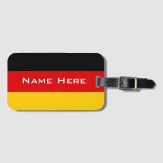 Sehr coole Flagge von Deutschland mit Monogramm Gepäckanhänger