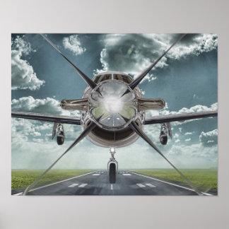 Sehr cooles Flugzeug-Plakat Poster