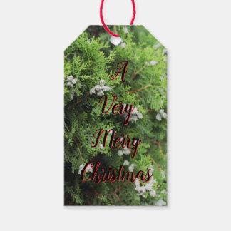 Sehr frohe Weihnachten Geschenkanhänger