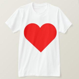 Sehr großer roter Herz-Doppelt-Druck-Entwurf T-Shirt