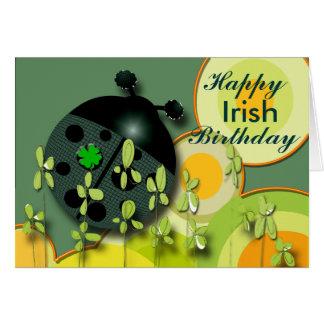 Sehr irischer Geburtstag Karte