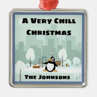 Sehr kalte Weihnachtsverzierung Silbernes Ornament
