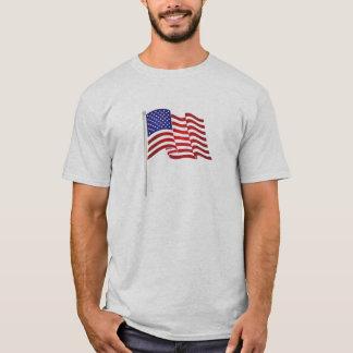 Sehr patriotischer Flaggendruck und,… halten wir T-Shirt