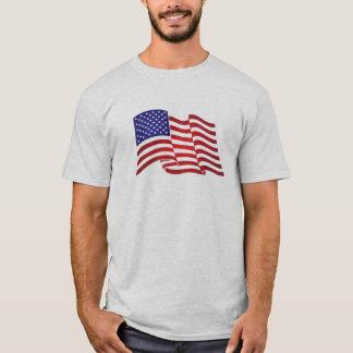 """Sehr patriotischer Flaggendruck und """"-wir halten T-Shirt"""