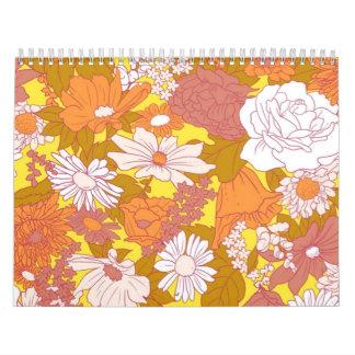 Seide-Schirm   Blumen Wandkalender