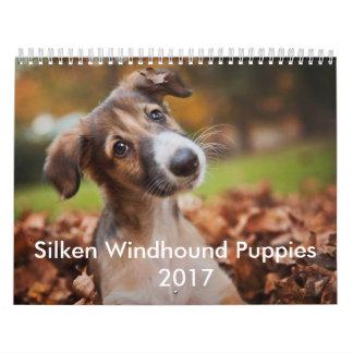 Seidener Welpen-Kalender 2017 Abreißkalender