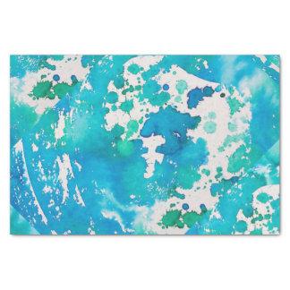 Seidenpapier im Ozean-Blau