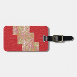 SEIDIGER eleganter roter Gewebe-Druck der Wellen-n Gepäckanhänger