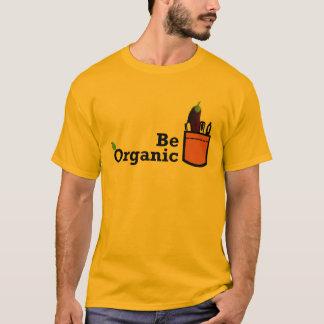 Seien Sie Bio Aubergine im Taschen-Shirt T-Shirt