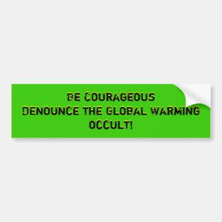 Seien Sie CourageousDenounce die globale geheimnis Autoaufkleber