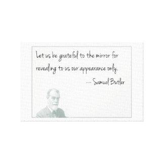 Seien Sie dankbar zum Spiegel…. Gespannte Galeriedrucke