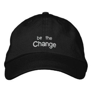 Seien Sie der Änderungs-Stickerei-Hut /Black Besticktes Baseballcap