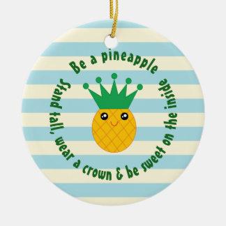 Seien Sie ein Ananas-inspirierend Keramik Ornament