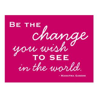 Seien Sie ein Erfolg - motivierend Postkarte