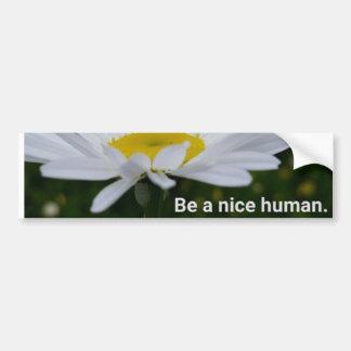 Seien Sie ein Nizza menschlicher Autoaufkleber Autoaufkleber