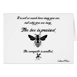 Seien Sie eine beschäftigte Biene! Mitteilungskarte