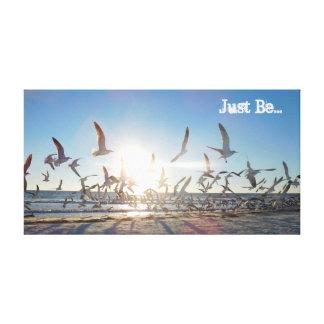 """""""Seien Sie einfach"""" Strand-FriedensLeinwand Leinwanddruck"""
