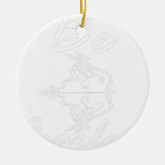 seien Sie fearless2 Keramik Ornament