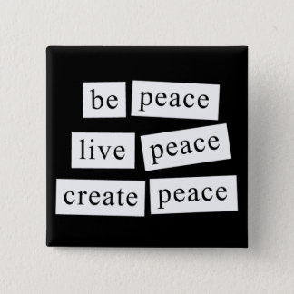 Seien Sie Frieden Quadratischer Button 5,1 Cm
