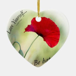 """""""Seien Sie glücklich! - Liebe sich… """" Keramik Ornament"""