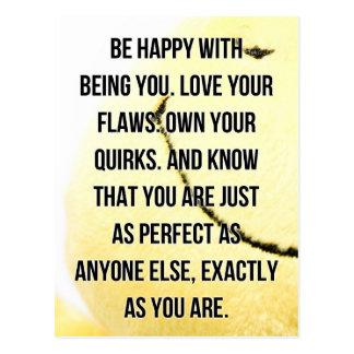 Seien Sie glückliches Sie sein Zitat Postkarte