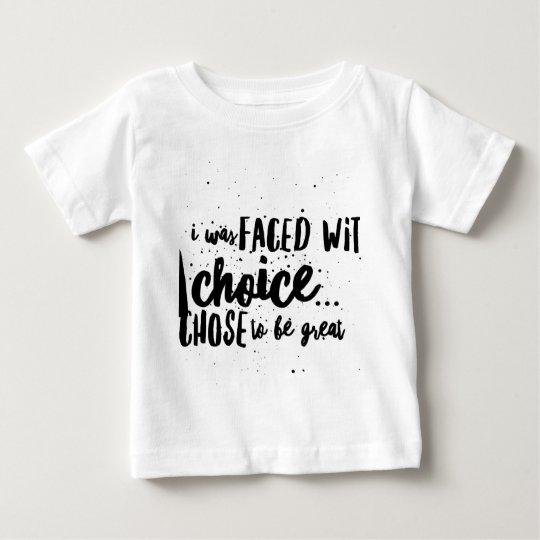 """""""Seien Sie großer"""" Baby-Jersey-T - Shirt"""