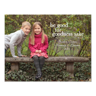 Seien Sie gute um Himmels willen - Weihnachtskarte 10,8 X 14 Cm Einladungskarte