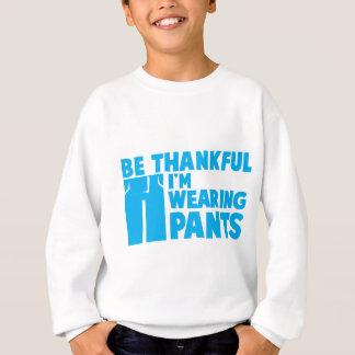 Seien Sie ich TRAGEN HOSEN dankbar Sweatshirt