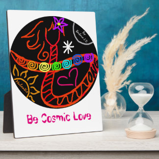 Seien Sie kosmische Liebe Fotoplatte