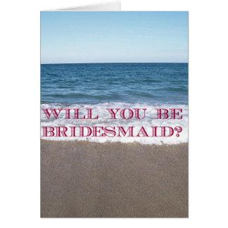 Seien Sie mein Brautjungfern-Strand an der Karte