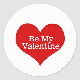 Seien Sie mein Valentinsgruß-Aufkleber Runder Aufkleber