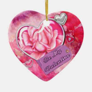 Seien Sie mein Valentinsgruß Keramik Ornament