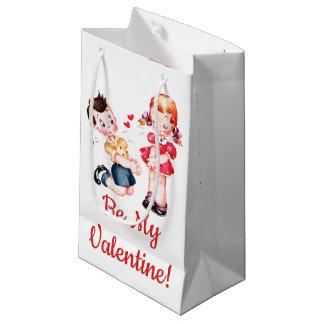 """""""Seien Sie mein Valentinsgruß!"""" Retro Mädchen-u. Kleine Geschenktüte"""