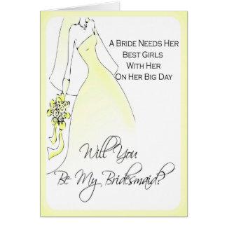 Seien Sie meine Brautjungfern-Einladung für Grußkarte