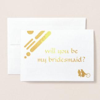 seien Sie meine Brautjungfern-Mod-Vogeleinladung Folienkarte
