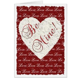 Seien Sie meine! Valentinsgruß Karte